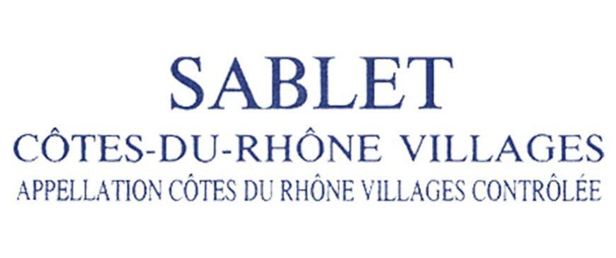 AOC Sablet - (Côtes du Rhone)
